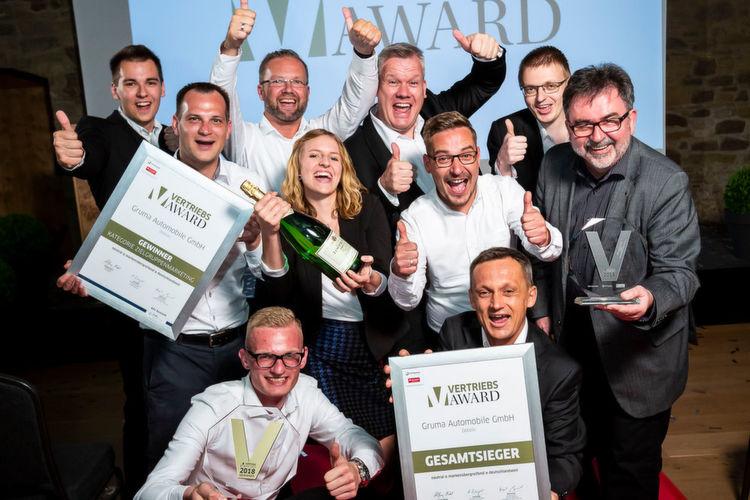 Die Gewinner des »kfz-Betrieb« Vertriebs-Award 2018