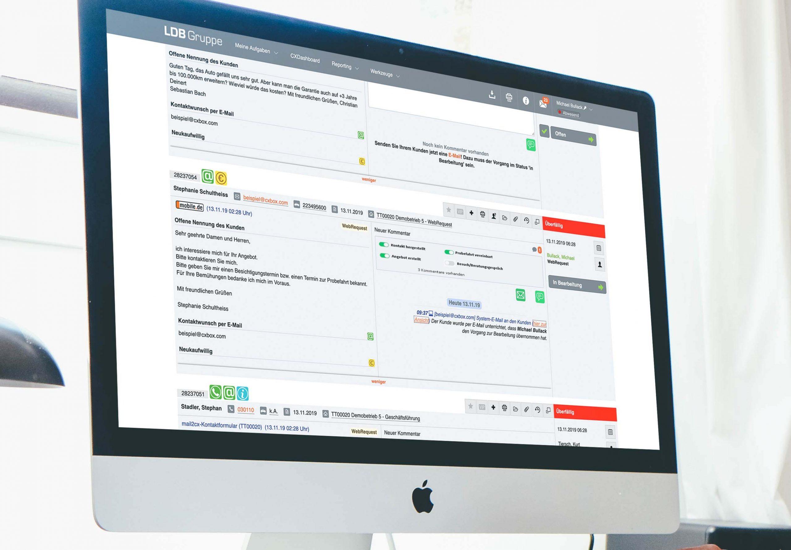 Mehr Kunden gewinnen mit der Lead-Management-Plattform LDB CXBox