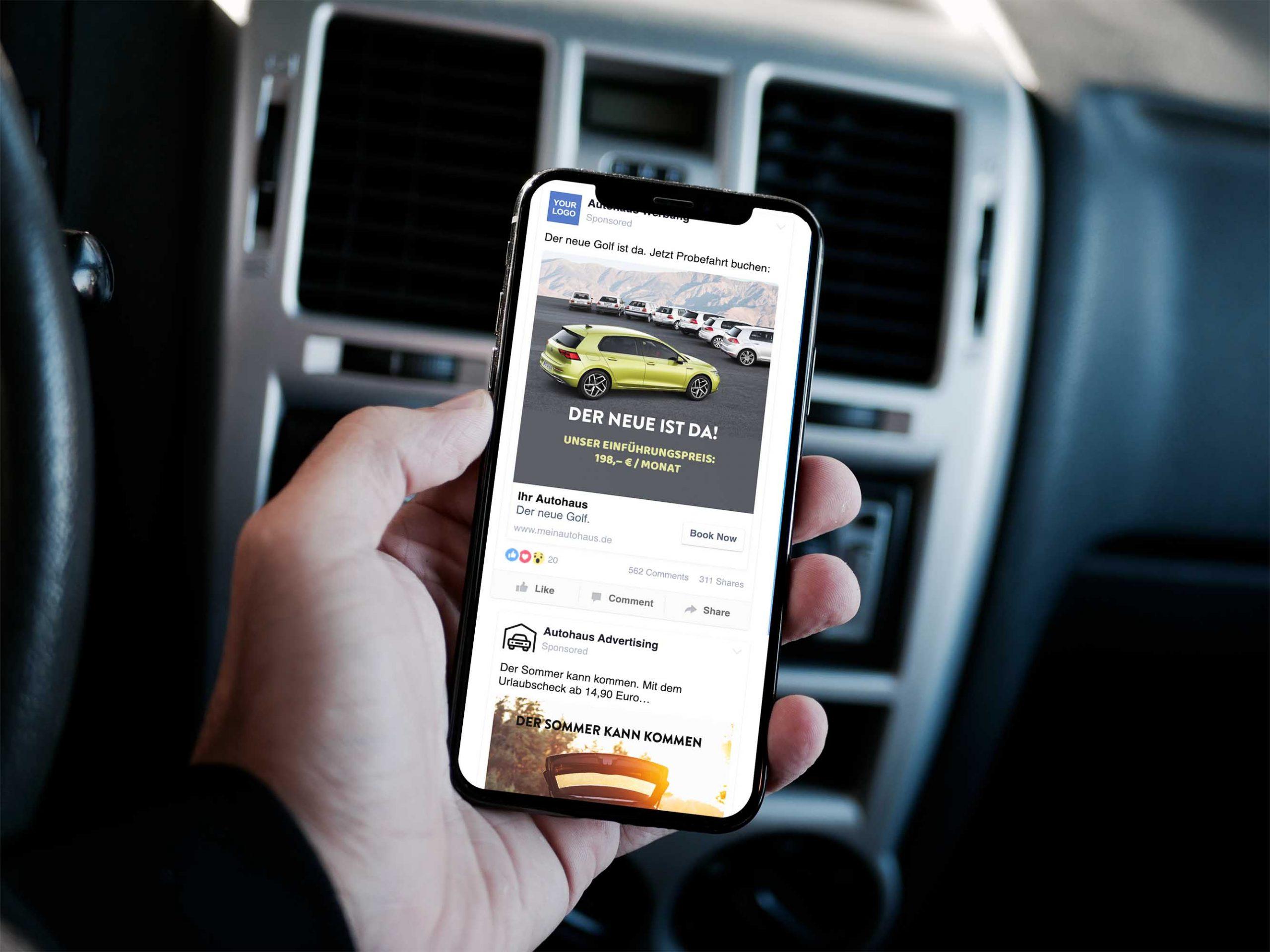 Facebook Werbung für Autohäuser