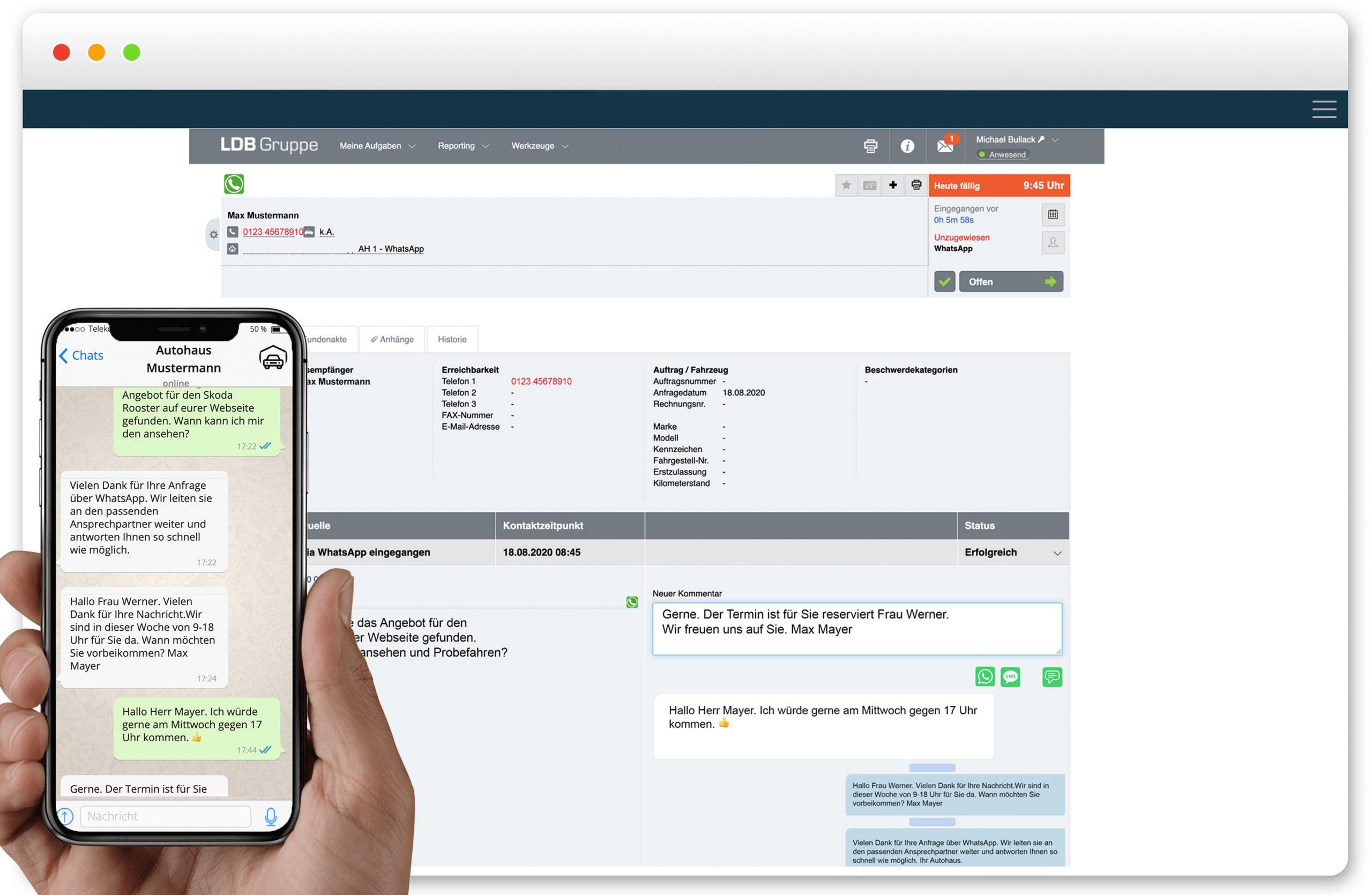 Pilotprojekt LDB WhatsApp messaging App