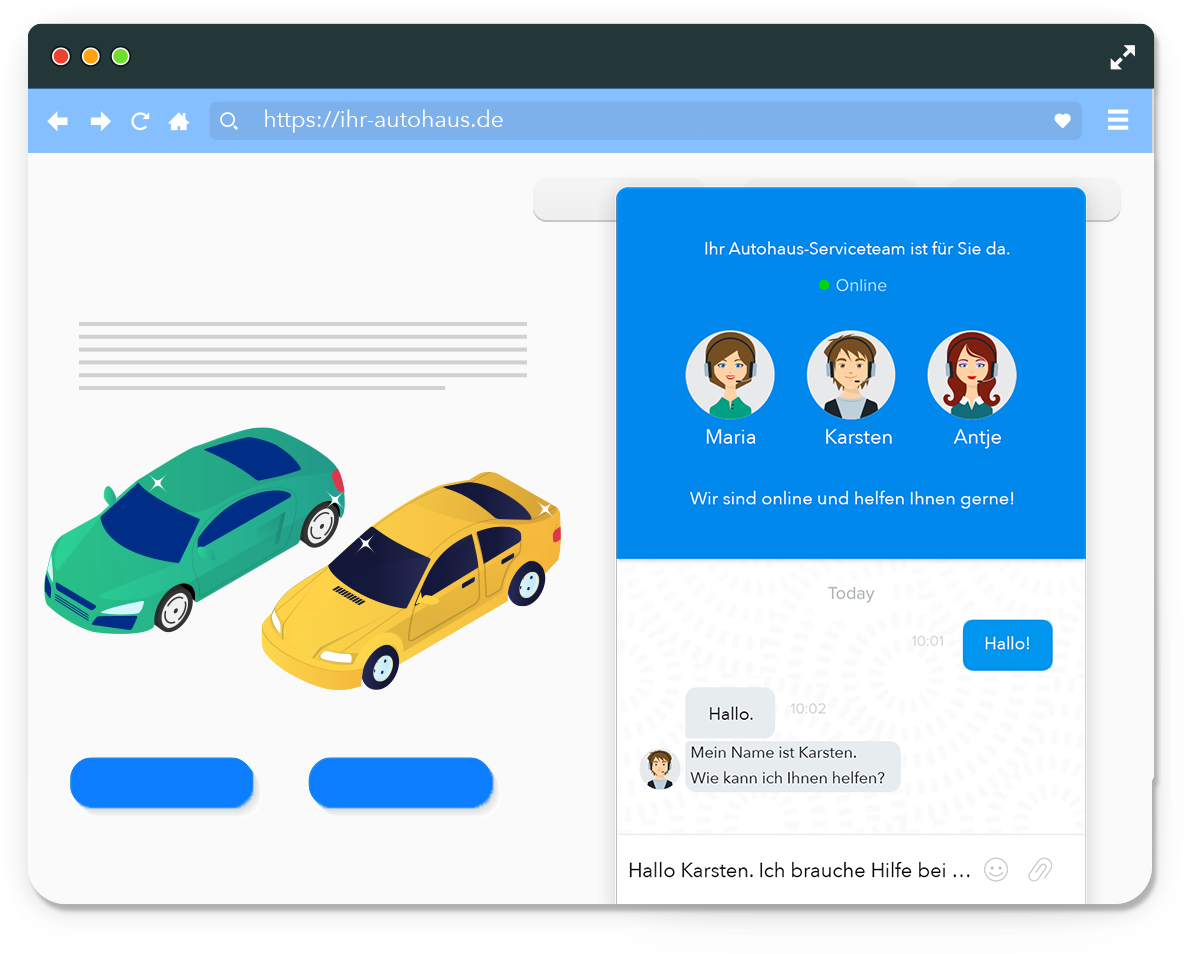 Live-Chat im Autohaus